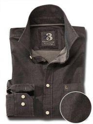 Clayton Indigo Black Cotton Casual Solid Shirt