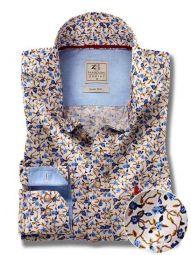 Watford Blue Cotton Casual Printed Shirt