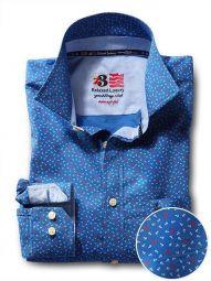 Anchors Cobalt Cotton Casual Printed Shirt