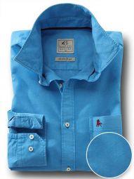 Marbella Cobalt Cotton Casual Solid Shirt