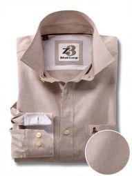 Captain Cream Cotton Casual Solid Shirt