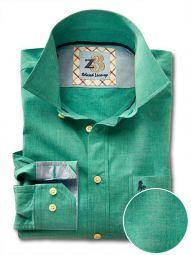 Sancho Green Cotton Casual Solid Shirt