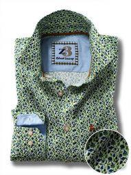 Kurinji Green Cotton Casual Printed Shirt
