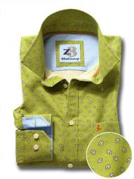 Maple Green Cotton Casual Printed Shirt