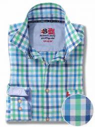 Arsenal Green Cotton Casual Checks Shirt
