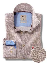 Aston Light Grey Cotton Casual Printed Shirt