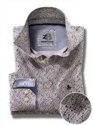 Ditsy Light Grey Cotton Casual Printed Shirt