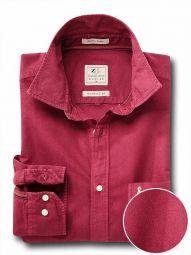Ramos Maroon Cotton Casual Solid Shirt