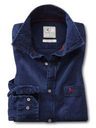 Robert Structure Lightweight Indigo Navy Cotton Casual Solid Shirt