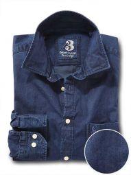Sundance Indigo Navy Cotton Casual Solid Shirt