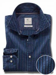 Elliot Indigo Navy Cotton Casual Striped Shirt