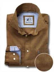 Daniel Ochre Cotton Casual Solid Shirt