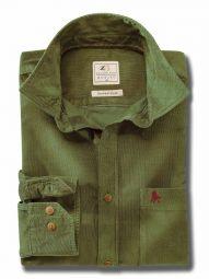 Innsbruck Cord Olive Cotton Casual Corduroy Shirt