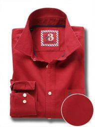 Eddie Red Cotton Casual Solid Shirt