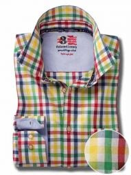 Arsenal Red Cotton Casual Checks Shirt