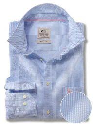 Liverpool Sky Cotton Casual Striped Seersucker Shirt
