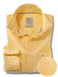 Chelsea Yellow Cotton Casual Solid Seersucker Shirt