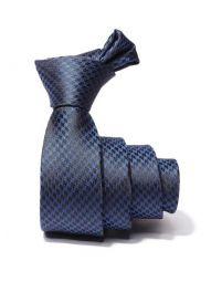 ZT-251 Structure Blue Skinny Tie
