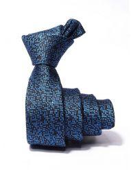 ZT-252 Structure Blue Skinny Tie
