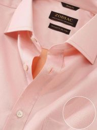 Antonello Orange Cotton Classic Fit Formal Solid Shirt