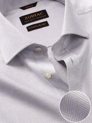 Antonello Light Grey Cotton Classic Fit Formal Solid Shirt
