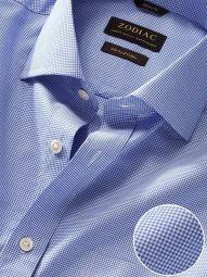 Barboni Blue Cotton Classic Fit Formal Checks Shirt