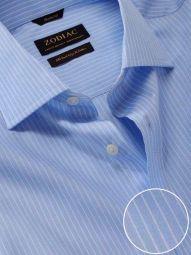 Barboni Sky Cotton Classic Fit Formal Striped Shirt