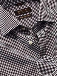 Barboni Black & White Cotton Classic Fit Formal Checks Shirt