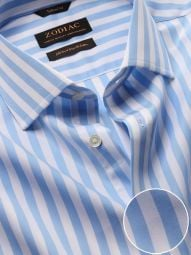 Barboni Sky Cotton Tailored Fit Formal Striped Shirt