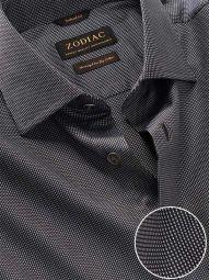 Barolo Dark Grey Cotton Classic Fit Evening Solid Shirt