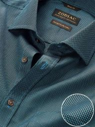 Barolo Turquoise Cotton Classic Fit Evening Solid Shirt