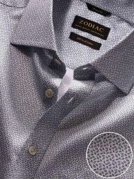 Bassano Light Grey Cotton Classic Fit Casual Printed Shirt