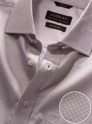 Bassano Cream Cotton Classic Fit Casual Printed Shirt