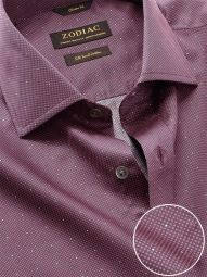 Bassano Maroon Cotton Classic Fit Formal Printed Shirt