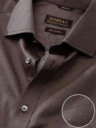 Bassano Ochre Cotton Classic Fit Formal Printed Shirt