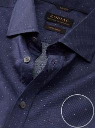Bassano Purple Cotton Classic Fit Formal Printed Shirt