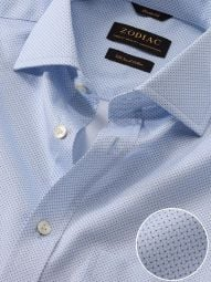 Bassano Sky Cotton Classic Fit Formal Printed Shirt