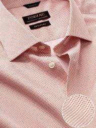 Bassano Orange Cotton Tailored Fit Casual Printed Shirt