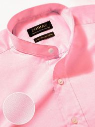 Bertolucci Pink Cotton Classic Fit Casual Solid Shirt