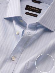 Bertolucci Sky Cotton Classic Fit Formal Striped Shirt