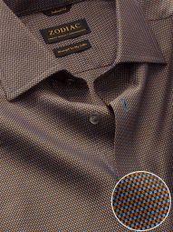 Bruciato Ochre Cotton Tailored Fit Evening Solid Shirt