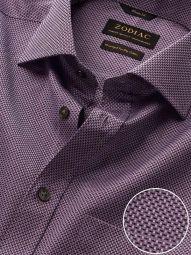 Bruciato Purple Cotton Classic Fit Evening Solid Shirt