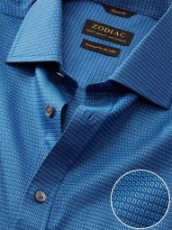 Bruciato Navy Cotton Classic Fit Evening Solid Shirt
