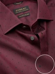 Bruciato Maroon Cotton Classic Fit Evening Solid Shirt
