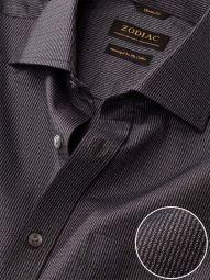 Bruciato Dark Grey Cotton Classic Fit Evening Solid Shirt