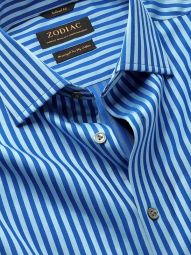 Bruciato Blue Cotton Tailored Fit Evening Solid Shirt