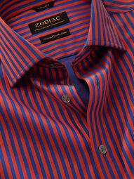 Bruciato Red Cotton Tailored Fit Evening Solid Shirt