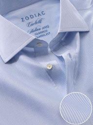 Carletti Sky Cotton Classic Fit Formal Striped Shirt