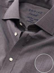 Carletti Dark Grey Cotton Classic Fit Formal Solid Shirt