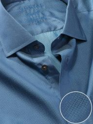 Carletti Teal Cotton Tailored Fit Formal Solid Shirt